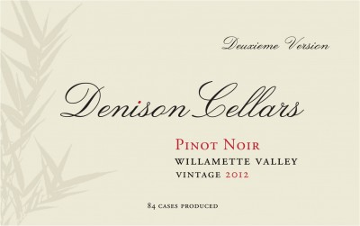 2012 Denison Cellars Willamette Valley Pinot Noir [label]