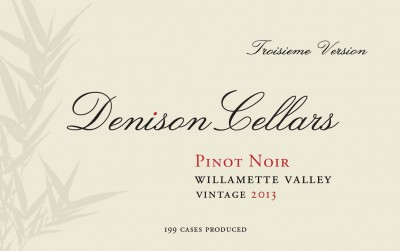 2013 Denison Cellars Willamette Valley Pinot Noir [label]