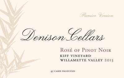 2015 Kiff Vineyard Rosé of Pinot Noir [label]