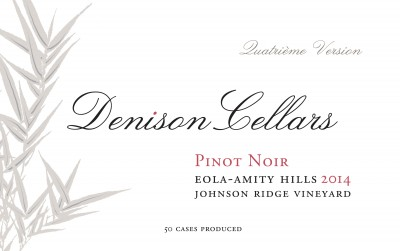 2014 Denison Cellars Johnson Ridge Vineyard Pinot Noir [label]